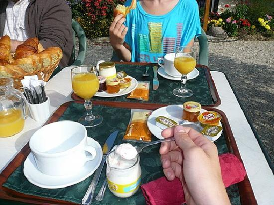 Hotel Le Mas des Lilas : breakfast tray (also fresh croissants/ bread not pictured)