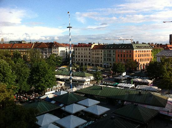 view from louis hotel room 509 picture of louis hotel munich tripadvisor. Black Bedroom Furniture Sets. Home Design Ideas
