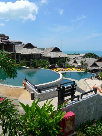 "Bhundhari Spa Resort & Villas Samui: The ""ocean"" (or pool?) view out of the balcony"