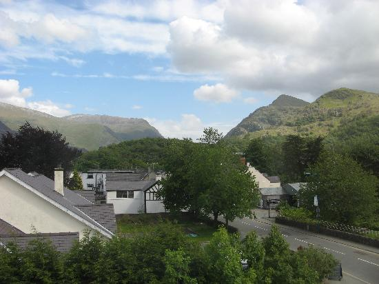 Padarn Lake Hotel: view from our family room window