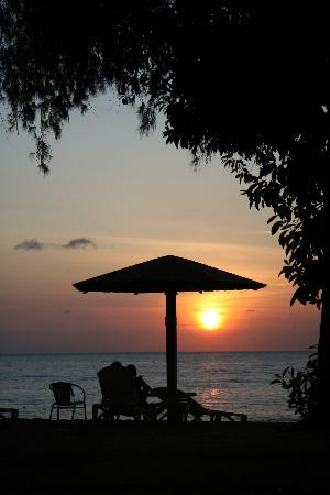 Lotus Desaru Beach Resort : sunrise at beach