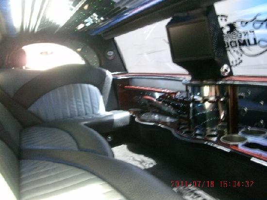Presidential Limousine: Inside Escalade Limo