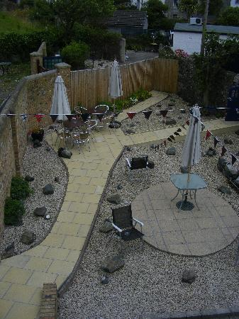 The Waterfront Hotel: our lovely courtyard