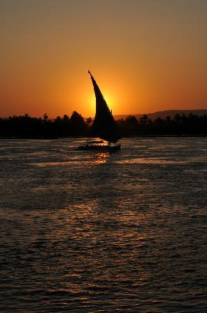Steigenberger Nile Palace Luxor: Felucca on the Nile, taken from the hotel