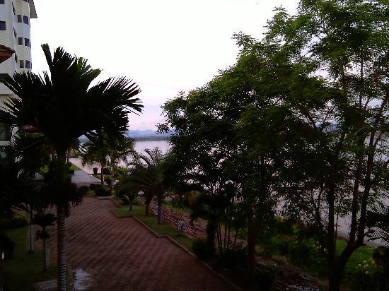 Fortune River View Hotel Nakhon Phanom: uitzicht over Mehkong rivier