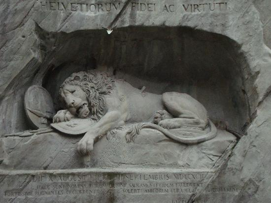 อนุสาวรีย์สิงห์โตลูเซิร์น: Lion Monument