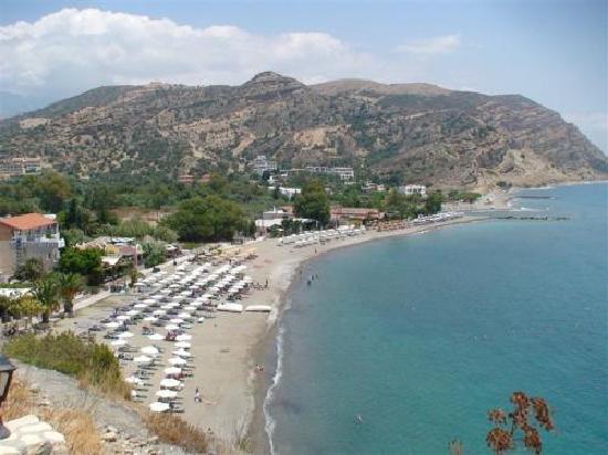 Hotel Areti: plage Agia Galini