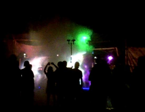 Etowah River Campground: dancing to  a local band