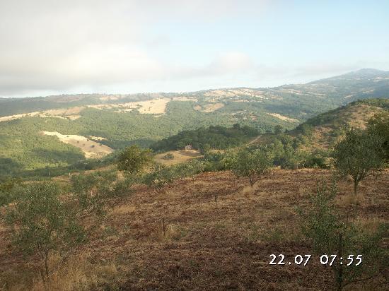 Roccalbegna, Италия: paesaggo visto dalla ns camera