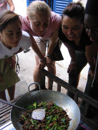 Takeo, Cambodia: Impressed and eager to sample Siphen's next Khmer specialty!