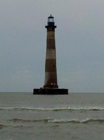 Folly Beach, Южная Каролина: lighthouse at Morris Island