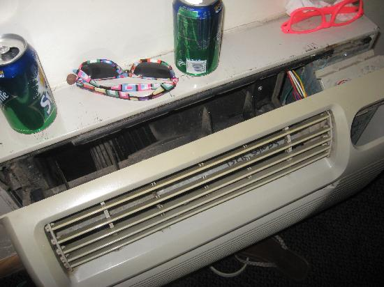 Bermuda Sands Motel: the air conditioner cover