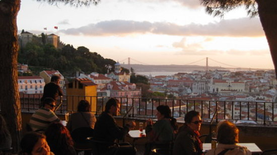 Lisbon Urban Adventures : Sunset view of Graça, get local  and join us for a beer
