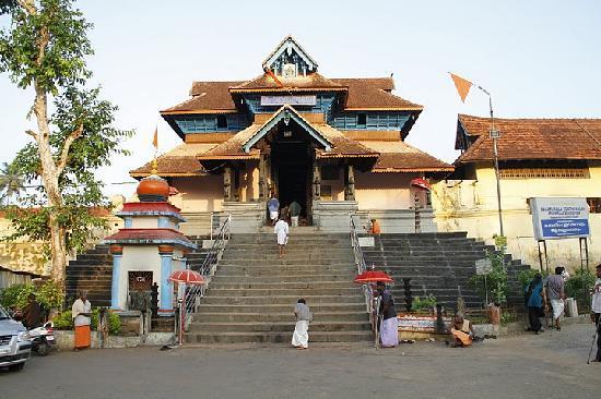 Radhakrishna Lodge: Aranmula Parthasarthi temple- view from the lodge