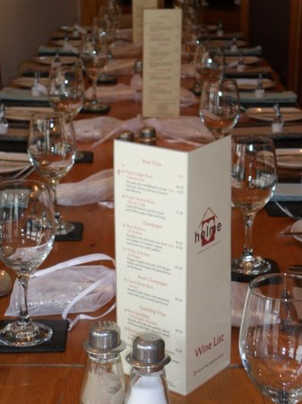 Holme Bistro: our table for 17