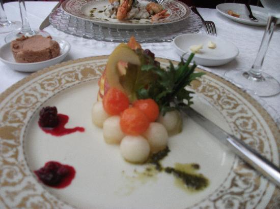 Restaurante Mozart: Melon & Ham starter