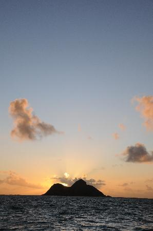 Lanikai Beach Rentals LLC: sunrise from the end of the beach path