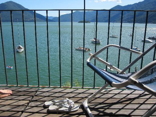Casa Moscia: Blick vom Zimmerbalkon