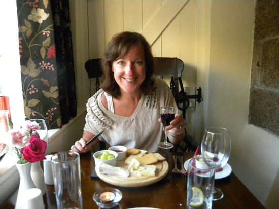 The Prince of Wales Restaurant: A half eaten cheeseboard (really!)