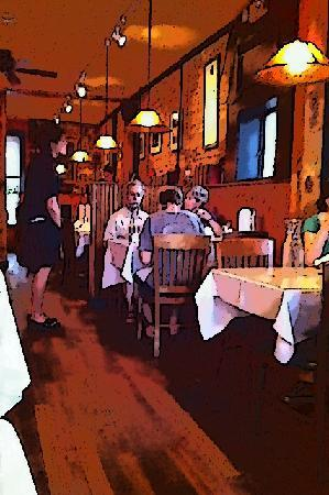 Two Brothers Tavern: The narrow and quaint interior
