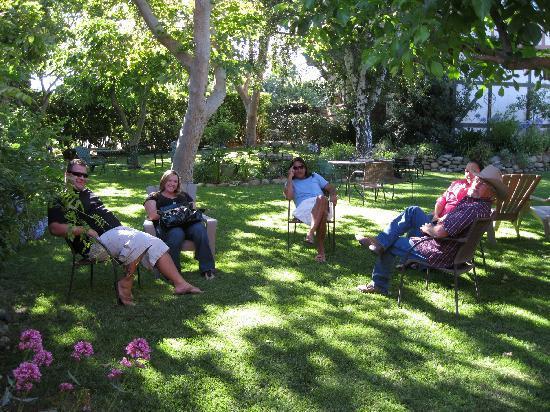 Solvang Gardens : Everyone enjoying the back garden