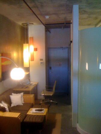 NYLO Plano at Legacy: Room interior, looking toward entrance