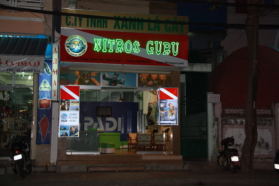 Nha Trang, Vietnam: dive shop in the town centre