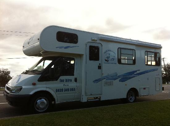 NRMA Treasure Island Holiday Park: Family Motorhomes 6 Berth Motorhome with Shower/Toilet - very spacious!