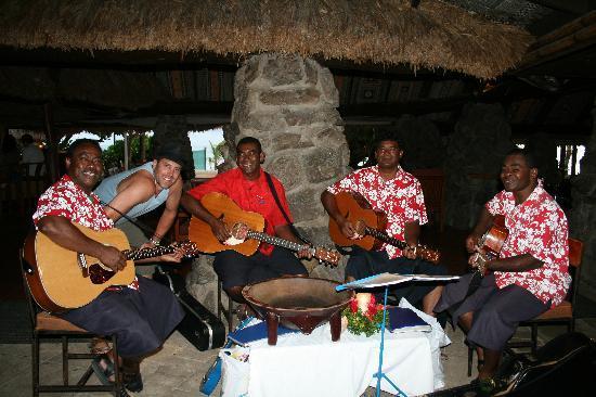 Castaway Island Fiji: The band played on