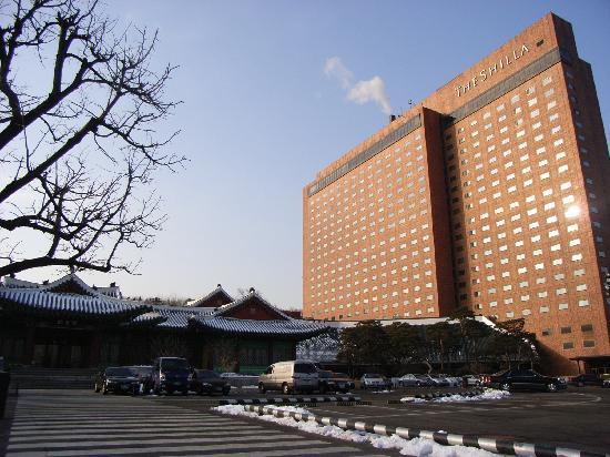 The Shilla Seoul: 2月でしたので雪もありました。