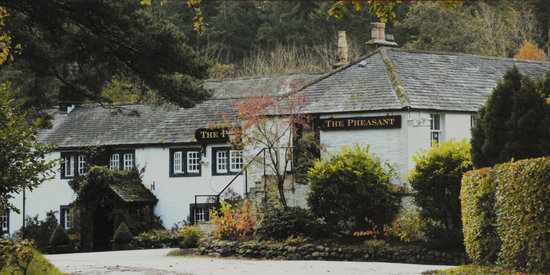 The Pheasant Inn: Approach to the Hotel