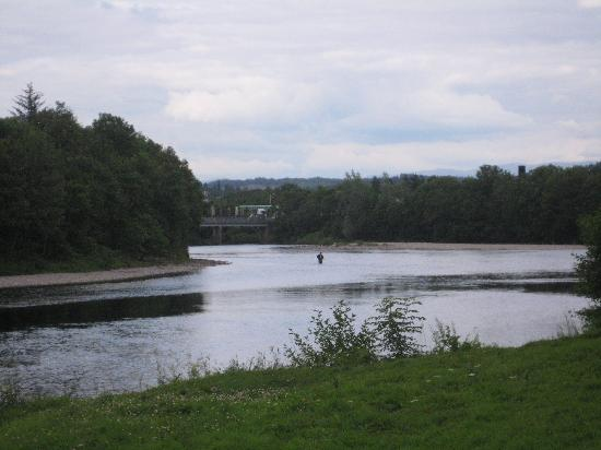 Cuil-Na-Sithe Corner of Heaven : A short walk -- man fishing for salmon