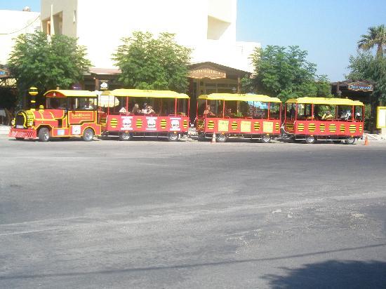 Kalloudis Hotel: Local choo choo train.