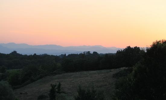 Agriturismo Il Poggio alle Ville: sunset at Il Poggio Alle Ville