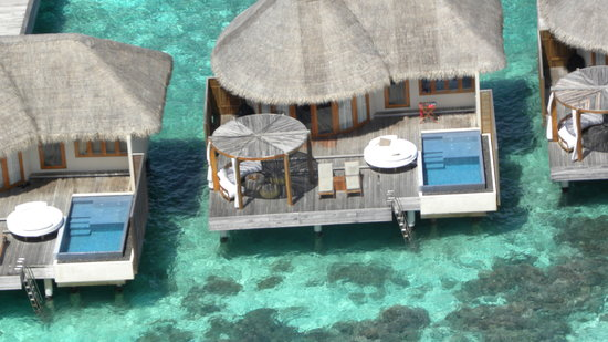W Maldives: Our room: a view from the sky