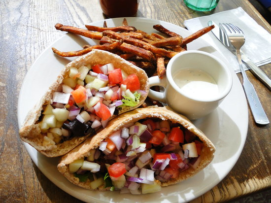 Busboys and Poets: Falafel Pita
