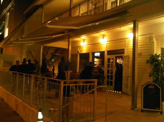 The Grove Spot: The front porch by night