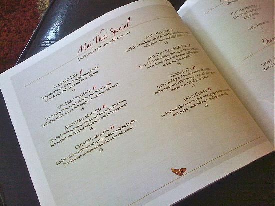 Mai Thai Restaurant: Mai Thai Specials
