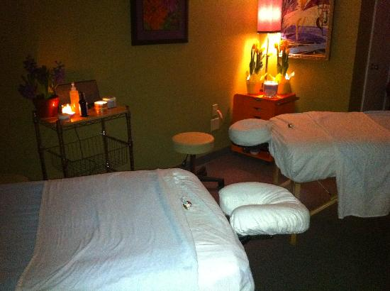 Couples Massage area at Evolve Spa