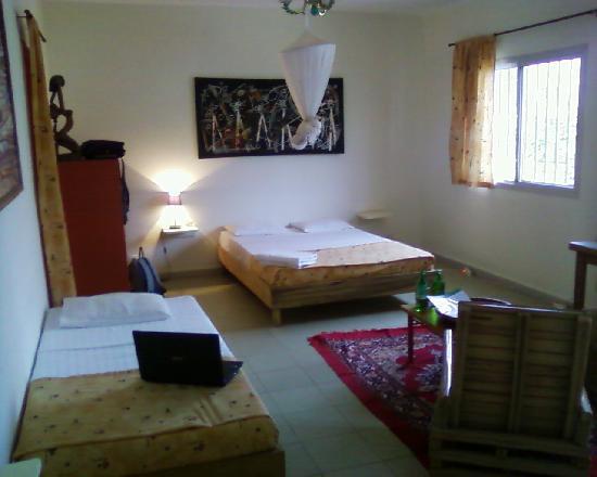 Hotel du Phare Les Mamelles: Room facing the street.