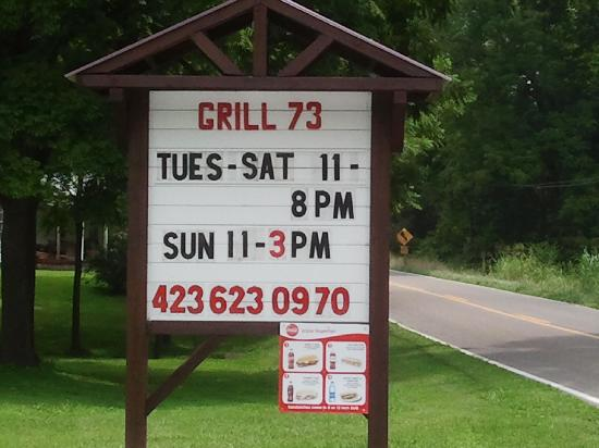 Grill 73 - Sign