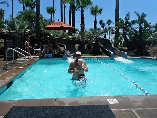 Hyatt Regency Huntington Beach Resort Spa Waterslides At Kids Pool