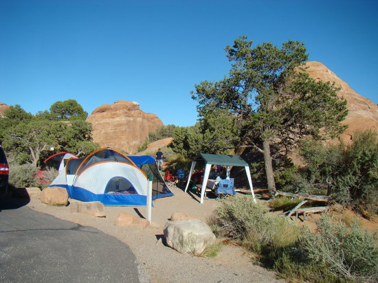 Devil's Garden Campground: with tents