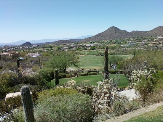 Starr Pass Golf Suites: Long hitters will need to use a 3 wood here