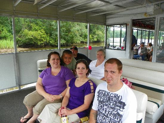 Plantation River Tours: the fam on the boat