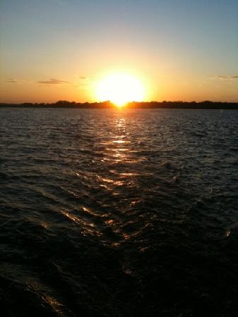 Captain Jack's Kiawah Sailing and Dolphin Watching: Sunset over Bohicket River