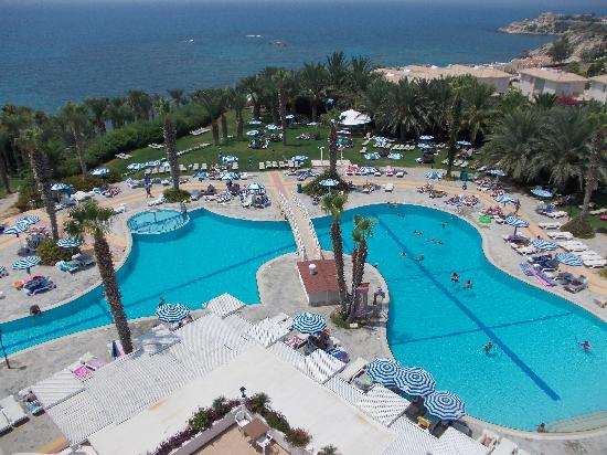 Ascos Coral Beach Hotel: View of pool from our room