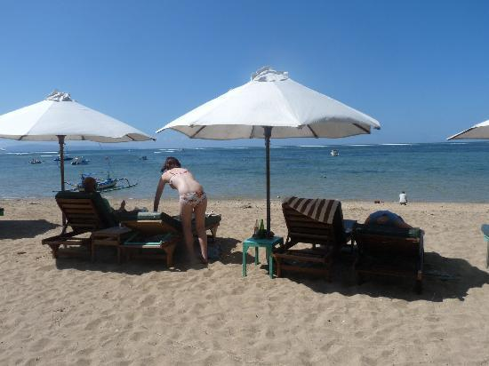 Villa Bretani: beach at Sanur