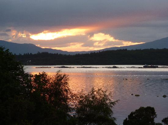 Loch Creran View : Sunset from the rooms