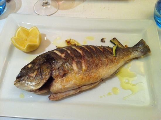 Le Gourmandin: baked fish with veggies. (veggies on separate platter and not shown). really good!  try it!